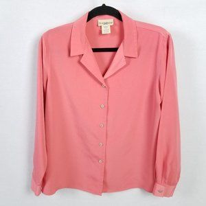 VINTAGE TravelSmith Coral Polyester Top